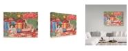 "Trademark Global Jan Benz 'Santa's Helpers Cats' Canvas Art - 47"" x 35"""