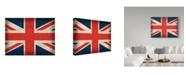 "Trademark Global Red Atlas Designs 'United Kingdom Distressed Flag' Canvas Art - 32"" x 24"""