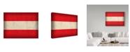 "Trademark Global Red Atlas Designs 'Austria Distressed Flag' Canvas Art - 47"" x 35"""