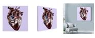 "Trademark Global Lucy Loo Wales 'Birdie In My Heart' Canvas Art - 35"" x 35"""