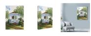 "Trademark Global Mary Irwin 'Garden Gazebo' Canvas Art - 35"" x 47"""