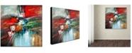 "Trademark Global Rio 'Cube Abstract IV' Canvas Art - 35"" x 35"""