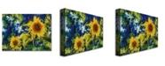 "Trademark Global Michelle Calkins 'Sunflowers' Canvas Art - 47"" x 35"""