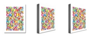 "Trademark Global Michael Tompsett 'States of the US' Canvas Art - 32"" x 24"""