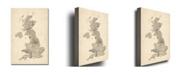 "Trademark Global Michael Tompsett 'UK Music Map' Canvas Art - 47"" x 30"""