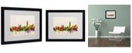 "Trademark Global Michael Tompsett 'Hong Kong Skyline' Matted Framed Art - 20"" x 16"""