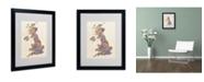 """Trademark Global Michael Tompsett 'United Kingdom I' Matted Framed Art - 20"""" x 16"""""""