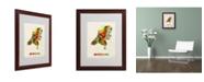 "Trademark Global Michael Tompsett 'Netherlands Map' Matted Framed Art - 20"" x 16"""