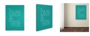 "Trademark Global Megan Romo 'Hug it Out IV' Canvas Art - 47"" x 35"""