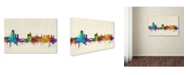 "Trademark Global Michael Tompsett 'Leeds England Skyline III' Canvas Art - 24"" x 16"""