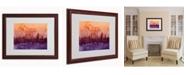 """Trademark Global Michael Tompsett 'London England Skyline VI' Matted Framed Art - 20"""" x 16"""""""