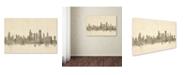"Trademark Global Michael Tompsett 'Chicago Illinois Skyline Sheet Music' Canvas Art - 30"" x 47"""