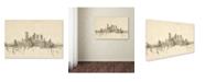 "Trademark Global Michael Tompsett 'Pittsburgh Skyline Sheet Music II' Canvas Art - 30"" x 47"""