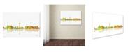 "Trademark Global Marlene Watson 'Las Vegas Nevada Skyline' Canvas Art - 30"" x 47"""