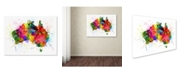 "Trademark Global Michael Tompsett 'Australia Paint Splashes Map' Canvas Art - 24"" x 32"""