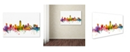 "Trademark Global Michael Tompsett 'Austin Texas Skyline' Canvas Art - 22"" x 32"""