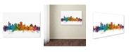 "Trademark Global Michael Tompsett 'Jackson Mississippi Skyline' Canvas Art - 22"" x 32"""