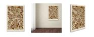 "Trademark Global Michael Tompsett 'Moscow City Street Map' Canvas Art - 22"" x 32"""