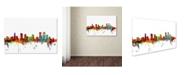 "Trademark Global Michael Tompsett 'Denver Colorado Skyline' Canvas Art - 26"" x 40"""