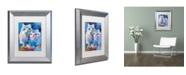 """Trademark Global Richard Wallich 'Owls' Matted Framed Art - 11"""" x 14"""""""