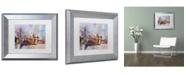 "Trademark Global Richard Wallich 'Brooklyn Bridge' Matted Framed Art - 11"" x 14"""