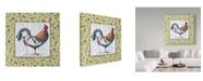 "Trademark Global Lisa Audit 'Rustic Rooster 1' Canvas Art - 14"" x 14"""