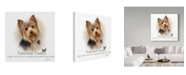 "Trademark Global Howard Robinson 'Yorkshire Terrier' Canvas Art - 14"" x 14"""