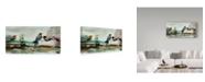 "Trademark Global Jean Plout 'Birds Of Fire Lake' Canvas Art - 12"" x 24"""