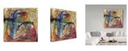 "Trademark Global Shana Dominguez 'Energetic Vibration' Canvas Art - 14"" x 14"""