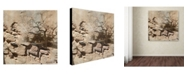 "Trademark Global Miguel Paredes 'Rock & Tree' Canvas Art - 14"" x 14"""