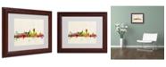 "Trademark Global Michael Tompsett 'San Francisco CA' Matted Framed Art - 14"" x 11"""
