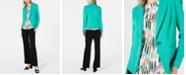 Bar III One-Button Notch-Collar Jacket, Printed Sleeveless Halter-Neck Top & Ruffle-Waist Pants, Created for Macy's