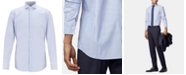 Hugo Boss BOSS Men's Jason Slim-Fit Butcher-Striped Poplin Shirt