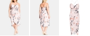 City Chic Trendy Plus Size Floral Exotic Lily Dress