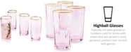 Martha Stewart Collection CLOSEOUT! Blush Highball Glasses, Set of 4, Created for Macy's