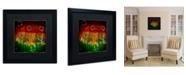 """Trademark Global Nicole Dietz 'The Ridges' Matted Framed Art - 16"""" x 16"""""""