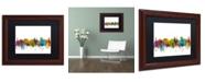 "Trademark Global Michael Tompsett 'Victoria Canada Skyline II' Matted Framed Art - 11"" x 14"""