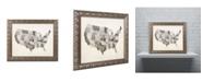 """Trademark Global Michael Tompsett 'United States Watercolor Map' Ornate Framed Art - 14"""" x 11"""""""