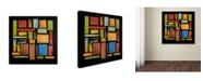 "Trademark Global Michelle Calkins 'Building Blocks Three' Canvas Art - 14"" x 14"""