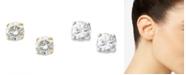 Macy's Round-Cut Diamond Stud Earrings in 10k Yellow or White Gold (1/6 ct. t.w.)
