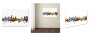 "Trademark Global Michael Tompsett 'Honolulu Hawaii Skyline' Canvas Art - 12"" x 19"""