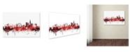 "Trademark Global Michael Tompsett 'London England Skyline 2' Canvas Art - 12"" x 19"""