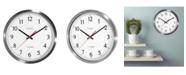 "La Crosse Technology 14"" UltrAtomic Analog Stainless Steel Wall Clock"