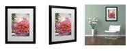 "Trademark Global David Lloyd Glover 'Pink Bougainvillea Mansion' Matted Framed Art - 16"" x 20"""