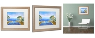 "Trademark Global David Lloyd Glover 'Cap Martin Monaco' Matted Framed Art - 16"" x 20"""