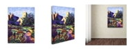 "Trademark Global David Lloyd Glover 'Dusk at Sunset' Canvas Art - 14"" x 19"""