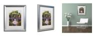 "Trademark Global David Lloyd Glover 'Two Blue Garden Chairs' Matted Framed Art - 16"" x 20"""
