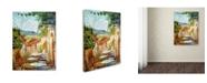 "Trademark Global David Lloyd Glover 'Provence Cafe Morning' Canvas Art - 18"" x 24"""