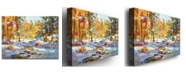 "Trademark Global David Lloyd Glover 'Snowy Autumn' Canvas Art - 32"" x 24"""