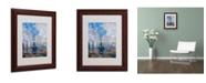 """Trademark Global Claude Monet 'Saint Lazare Station' Matted Framed Art - 14"""" x 11"""""""